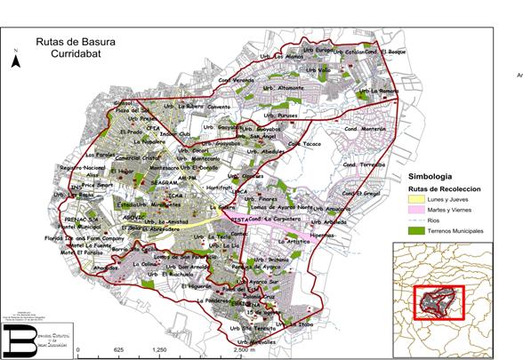 Mapa de recolección de desechos